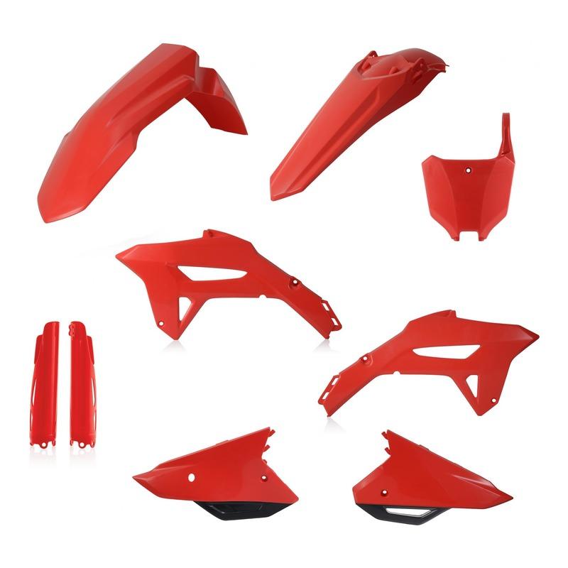 Kit plastiques complet Acerbis Honda CRF 450R 2021 rouge (couleur origine)