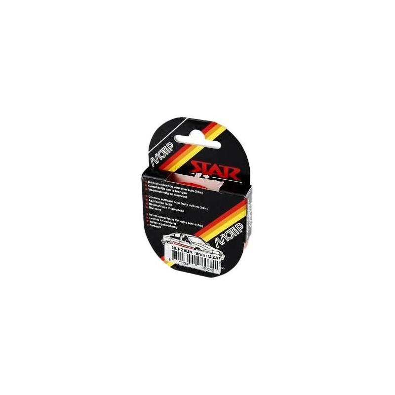 Liseret Autocollant Fluo Rouge 9mmx10m pour Jante ou Carrosserie