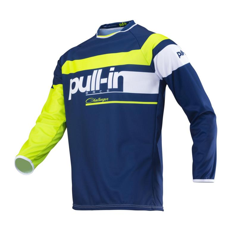 Maillot cross enfant Pull-in Challenger Race navy/lime