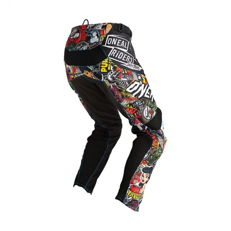 Pantalon cross O'Neal Mayhem Lite Crank noir/multicolore - 1