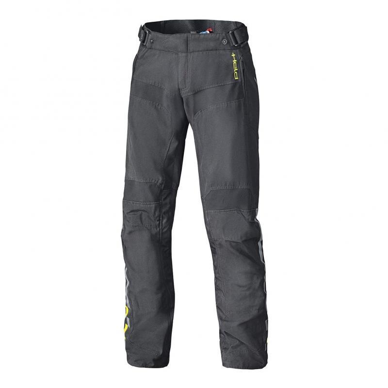 Pantalon textile Held Traveller Base noir/jaune fluo (long)
