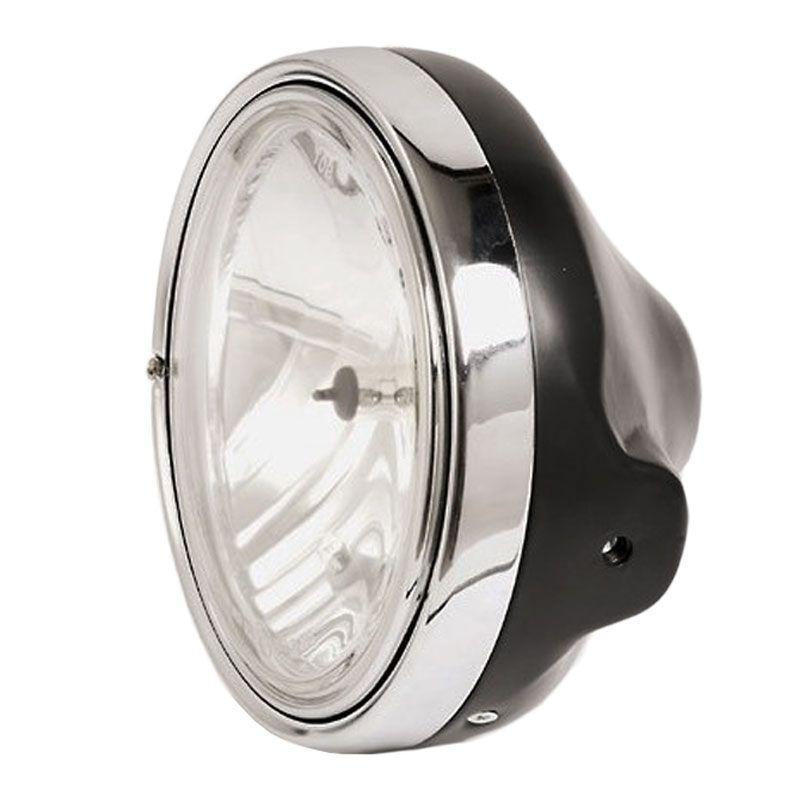 Phare Brazoline LTD Style noir Ø 200 mm verre lisse