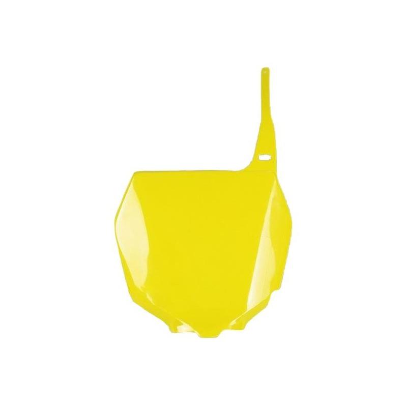 Plaque numéro frontale UFO Suzuki 450 RM-Z 05-07 jaune (jaune RM)