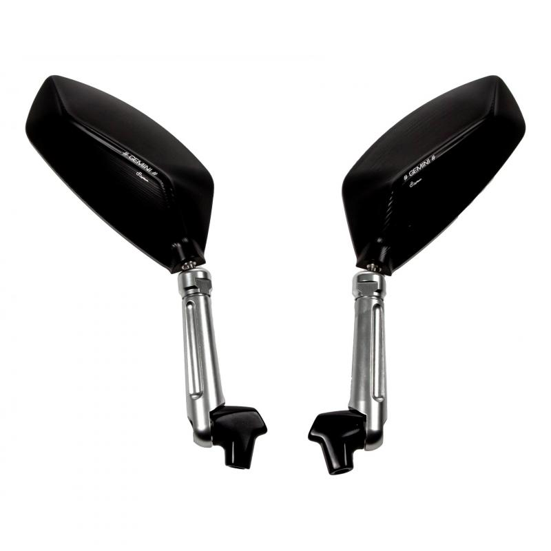 Rétroviseur aluminium noir Lightech SPEAL027NER M10x1.25 - 1