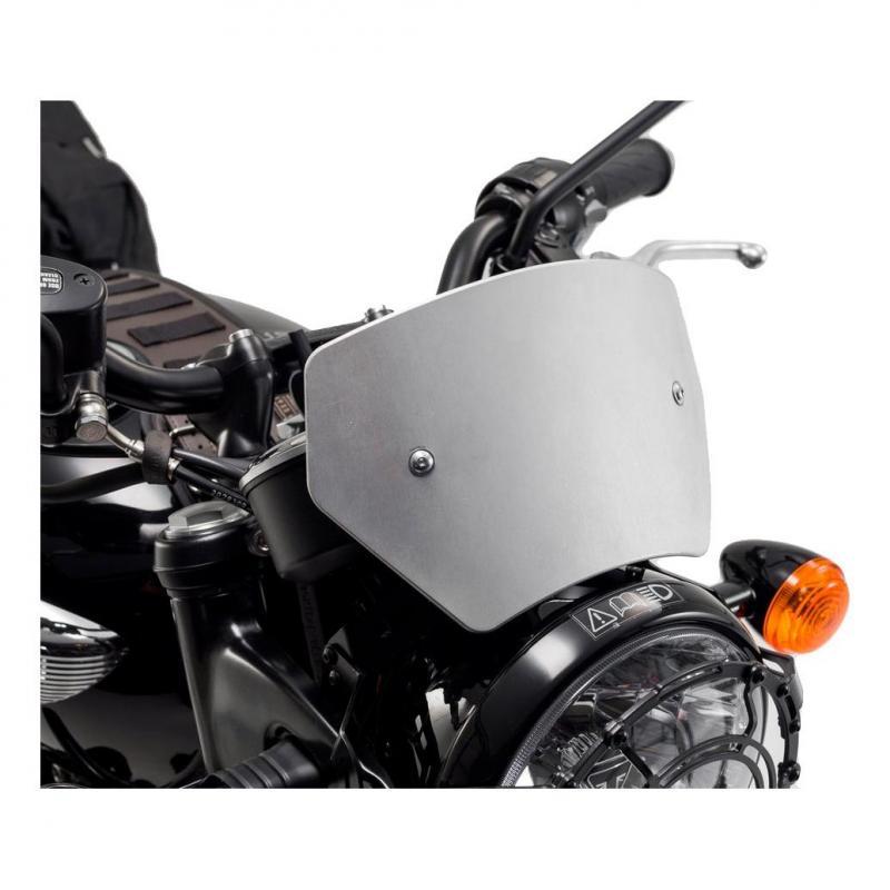 Saute vent SW-Motech aluminium brossé Triumph Bonneville T120 15-18