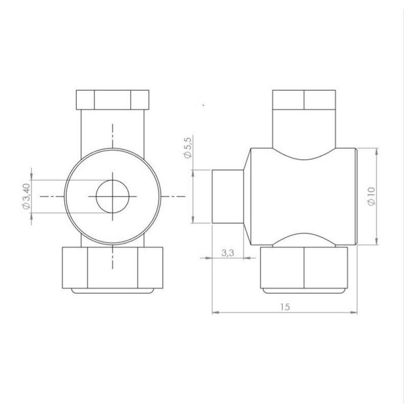 Serre câble de frein Algi 10x15 - 1