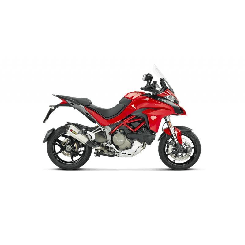 Silencieux Akrapovic Titane embout carbone Ducati Multistrada 1200 S 15-17