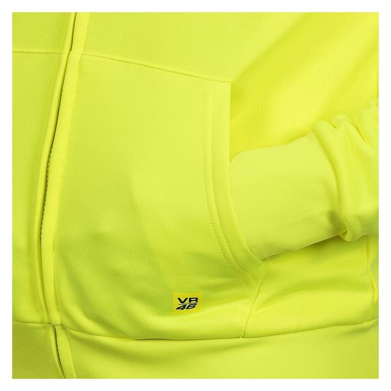 Sweat à capuche zippé VR46 Core jaune fluo - 2
