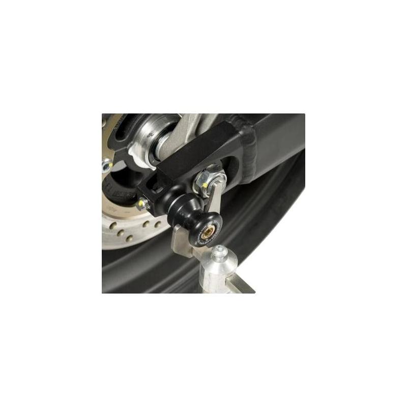 Diabolos de bras oscillant R&G Racing noir sur platine Honda CBR 600 F 11-13