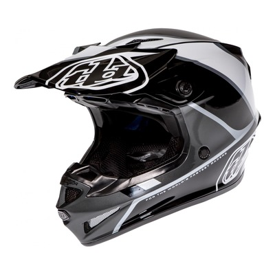 Casque cross Troy Lee Designs SE4 Polyacrylite Beta argent
