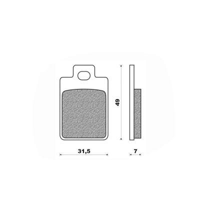 Plaquettes de frein Newfren Standard organique .FD.0225 BKS