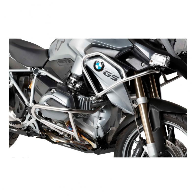 Barres de protection latérale supérieure SW-MOTECH acier inox BMW R 1200 GS LC 13-
