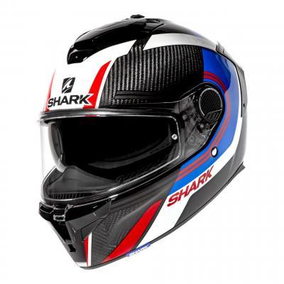 Casque intégral Shark Spartan GT Carbon Tracker carbon/bleu/rouge