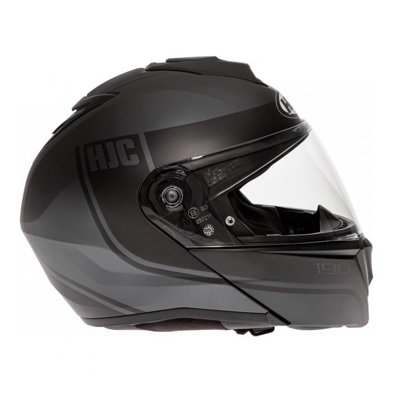 Noir L Casque moto HJC i90 DAVAN MC5SF