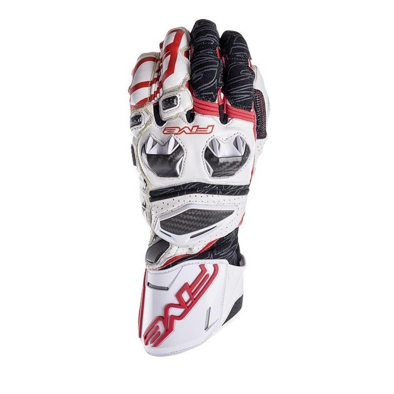 Gants Five RFX RACE blanc/rouge