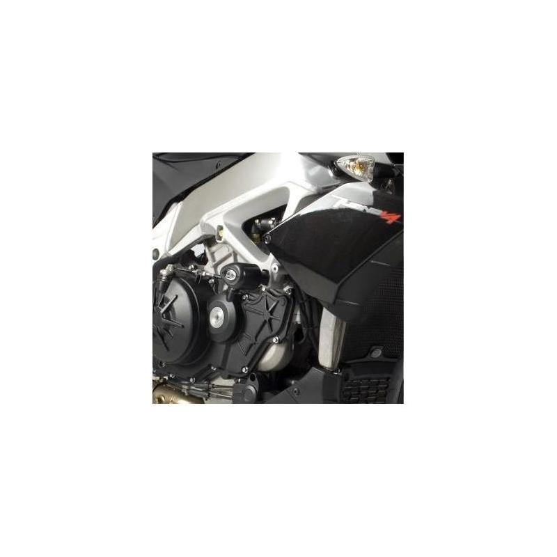 Tampons de protection R&G Racing Aero noir Aprilia Tuono V4 1100 15-18