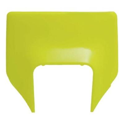 Plastique plaque phare RTech Husqvarna 250 TE 2020 jaune fluo