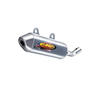 Silencieux FMF PowerCore 2 Shorty finition aluminium embout inox pour Suzuki RM 125 01-02