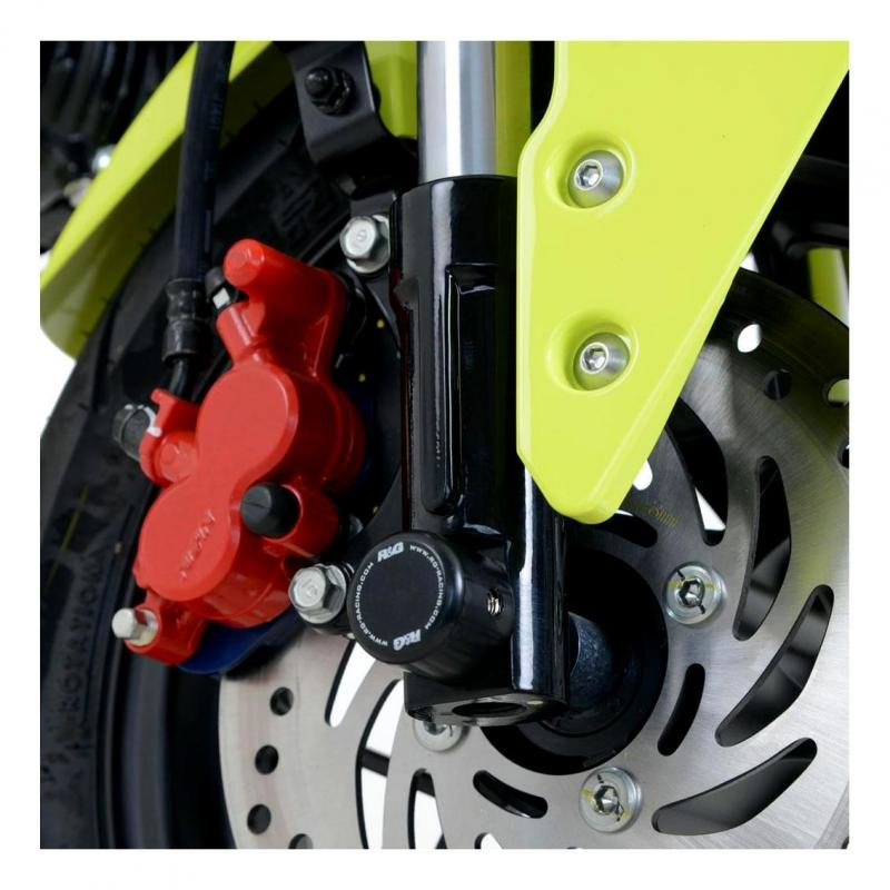 Tampons de protection de fourche R&G Racing noirs Suzuki GSX 1250 FA 10-12
