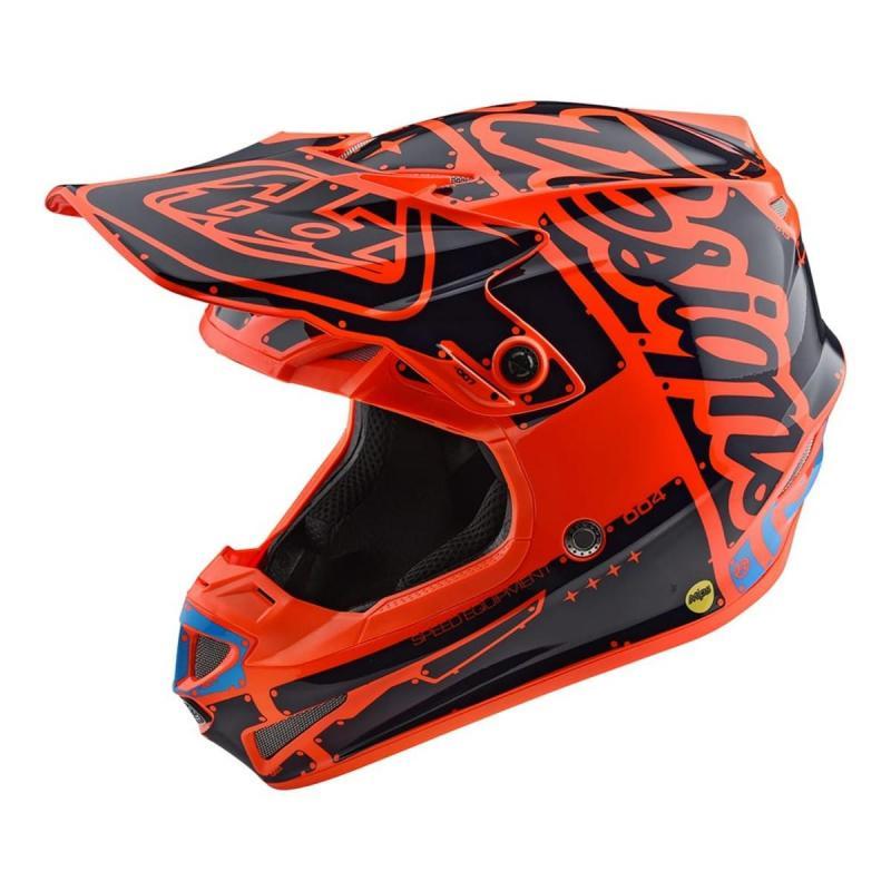 Casque cross enfant Troy Lee Designs SE4 Polyacrylite Factory orange