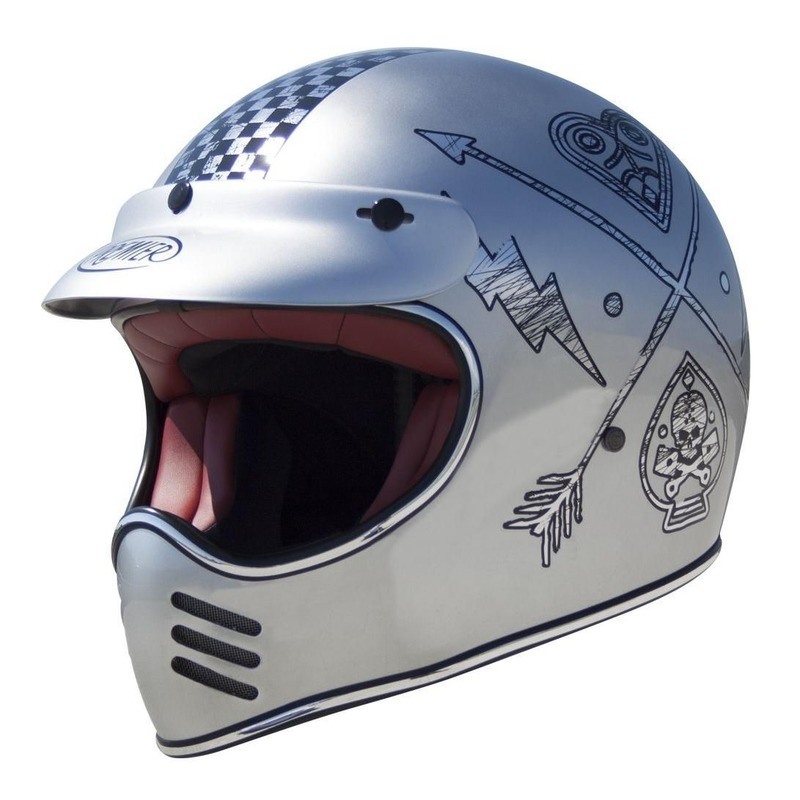 Casque cross Premier MX NX chrome