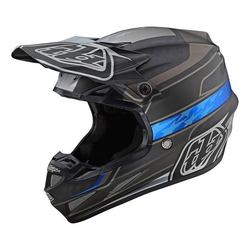 Casque cross Troy Lee Designs SE4 Carbon Speed Team noir/gris