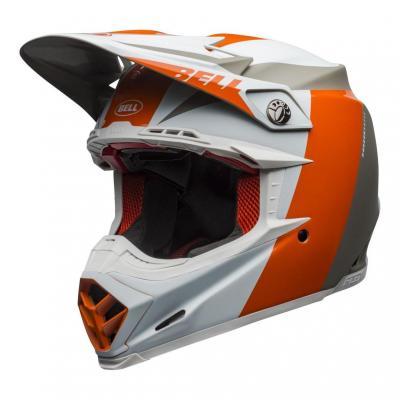 Casque cross Bell Moto-9 Flex Division blanc/orange/sable