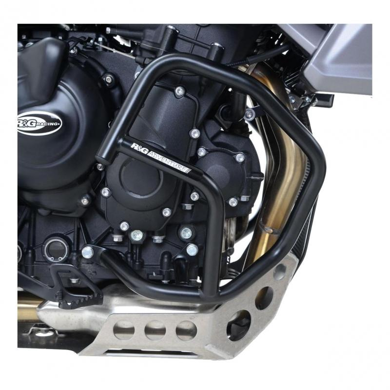 Barres de protection latérales R&G Racing noires Kawasaki GTR 1400 10-18
