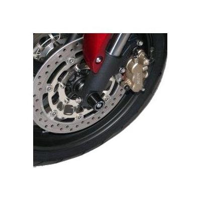 Tampons de protection de fourche R&G Racing noirs Yamaha YZF-R6 05-16