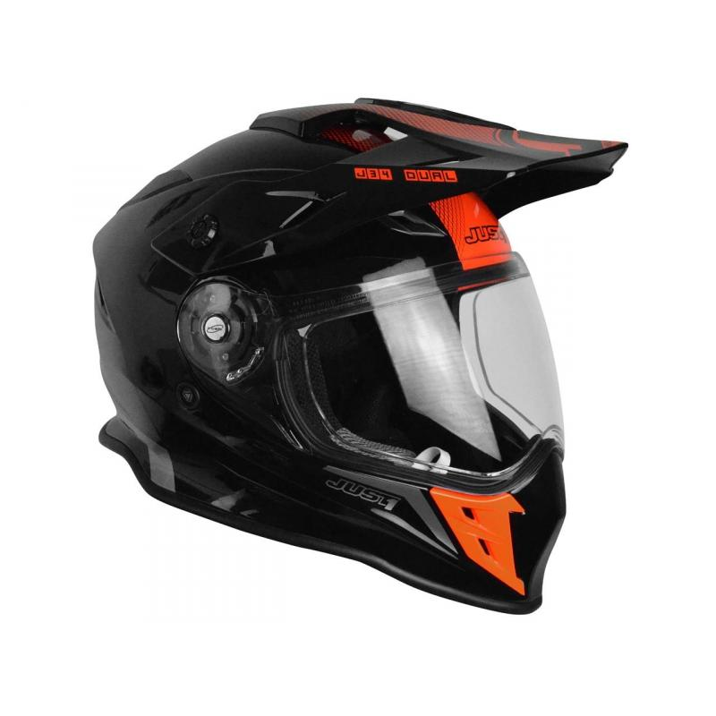 Casque intégral Just1 J34 Adventure Shape noir/rouge