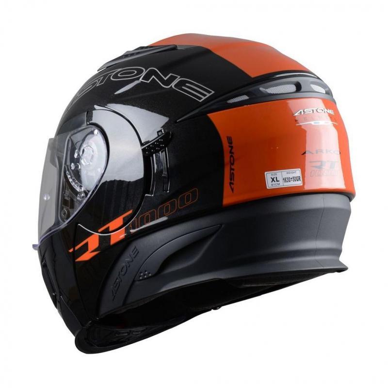 Casque Modulable Astone Rt 1000 Graphic Exclusive Arko noir/orange - 2