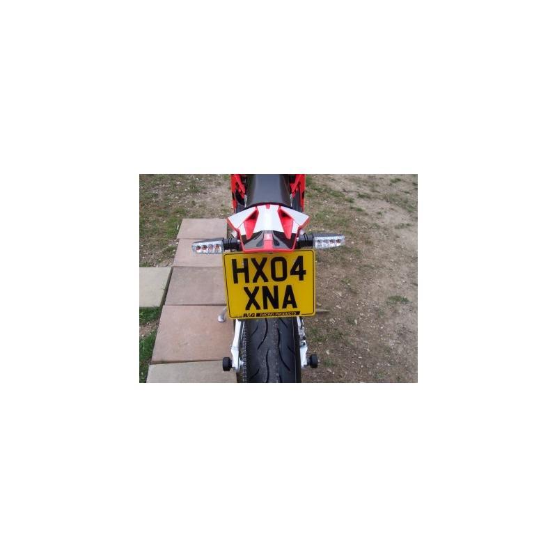 Support de plaque d'immatriculation R&G Racing noir Aprilia SXV 450 06-13 - 2