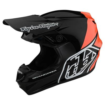 Casque cross enfant Troy Lee Designs GP Polyacrylite Block noir/orange