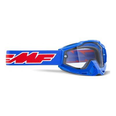 Masque cross FMF Vision PowerBomb Enduro Rocket bleu - écran clair