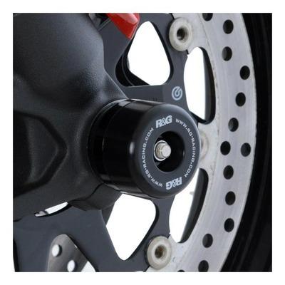 Tampons de protection de fourche R&G Racing noir Ducati Hypermotard 950 19-21