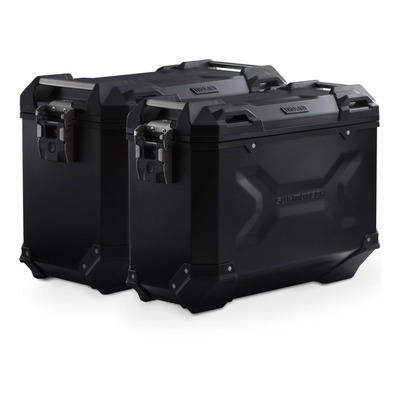 Valises latérales SW-MOTECH TRAX ADV noires 45/37L support PRO Honda Africa Twin Adv Sport 2020