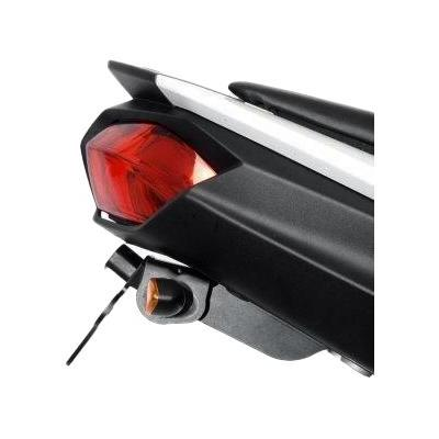 Support de plaque d'immatriculation R&G Racing noir Aprilia RSV 1000 01-03