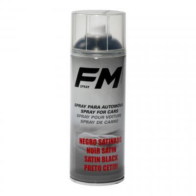 Bombe de peinture acrylique FM Spray noir satiné 400ml