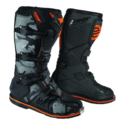 Bottes cross Shot X10 2.0 camo orange fluo