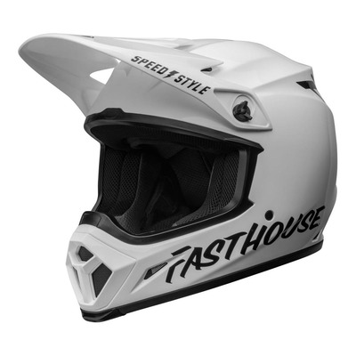 Casque cross Bell Moto-9 Mips Fasthouse blanc/noir brillant