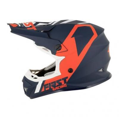 Casque cross First Racing K2 Polycarbonate bleu/blanc/rouge