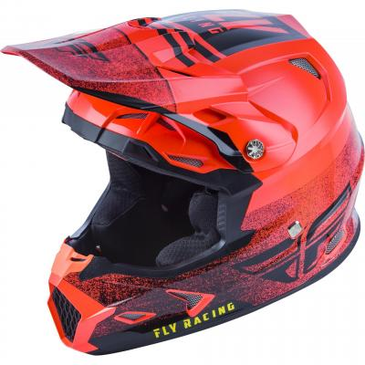 Casque cross Fly Racing Toxin Mips Embargo rouge/noir