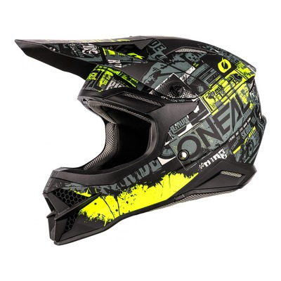 Casque cross O'Neal 3SRS Ride noir/jaune fluo