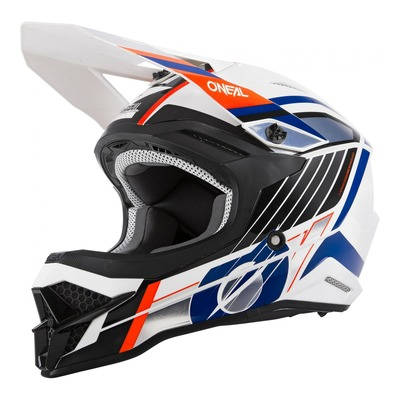 Casque cross O'Neal 3SRS Vision blanc/noir/orange