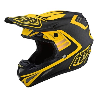 Casque cross Troy Lee Designs SE4 Carbon Flash noir/jaune