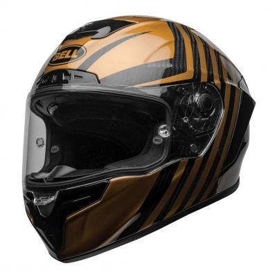 Casque intégral Bell Race Star Flex DLX Carbon Lux noir/or mat et brillant