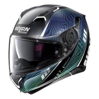 Casque intégral Nolan N87 Sioux N-Com Mat noir/bleu/vert