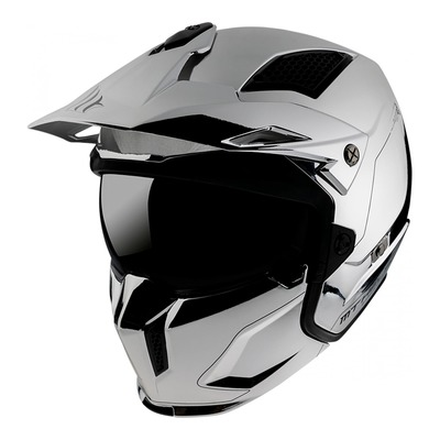 Casque transformable MT Helmets Streetfighter SV Uni chrome argent