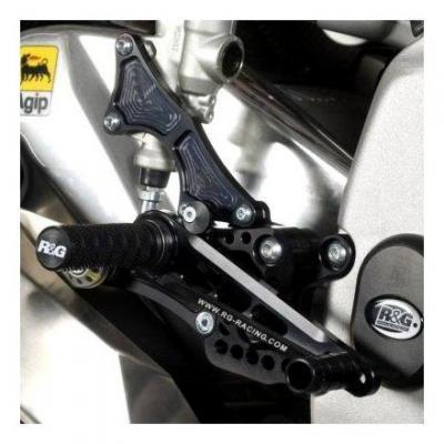 Commandes reculées R&G Racing noir Aprilia RSV4 R 09-14