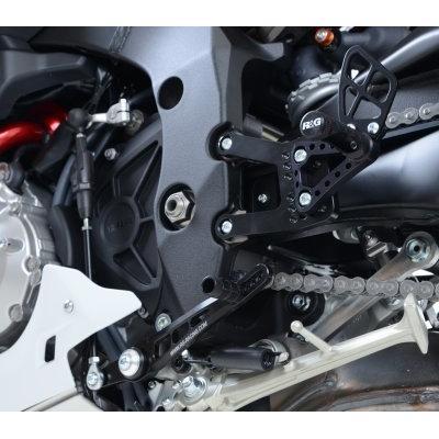 Commandes reculées R&G Racing noir Yamaha YZF-R1 15-18